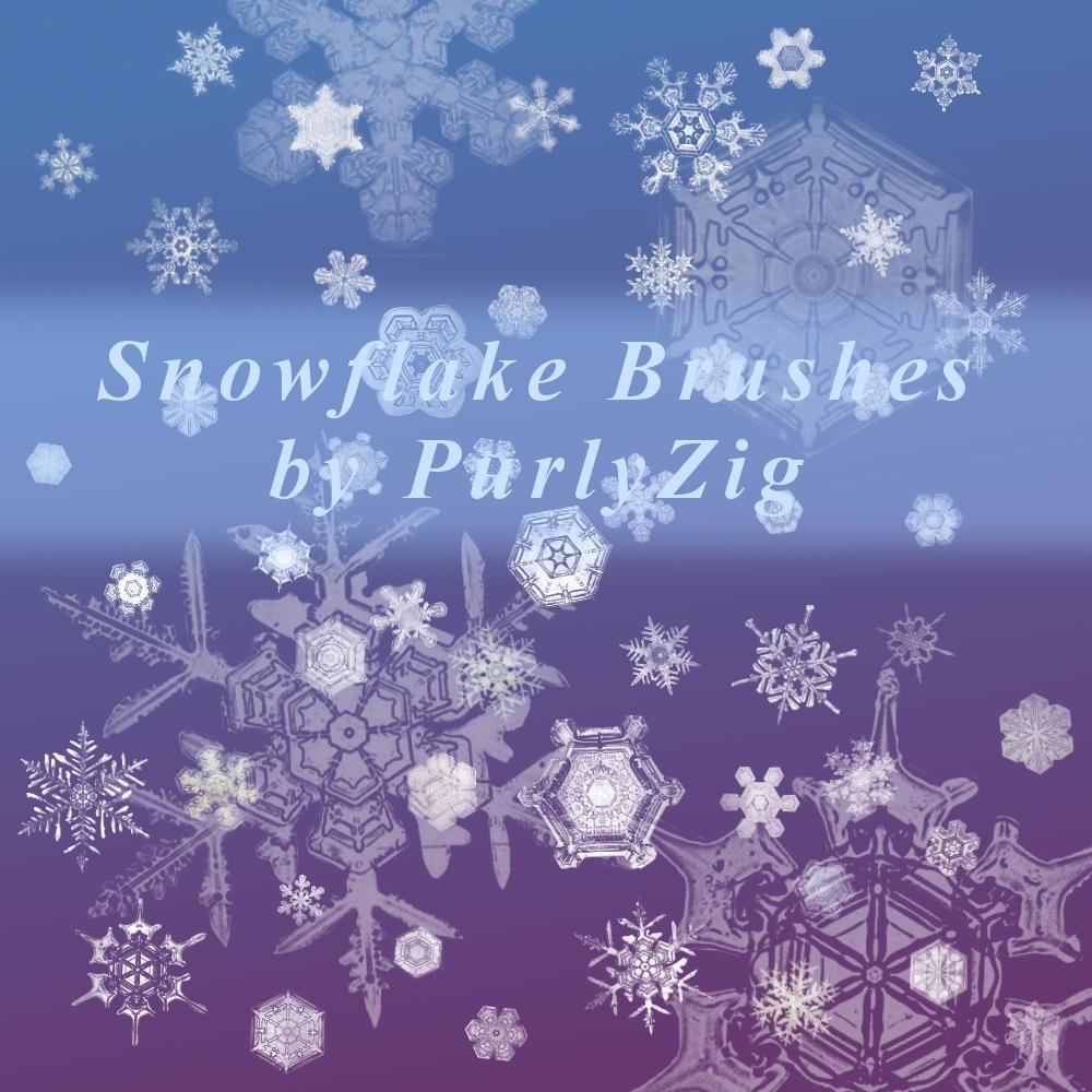 Actual Snowflakes Brush Set