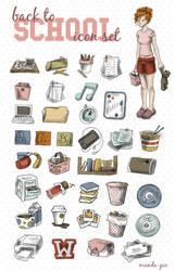 Back to School Icon Set by manda-pie