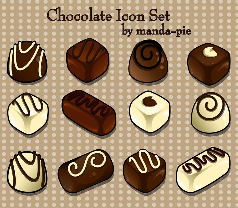Chocolate Icon Set