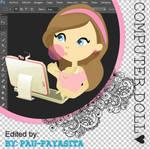 Nueva Nena png - Computer Doll