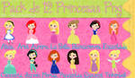 Pack de 12 Princesas Png