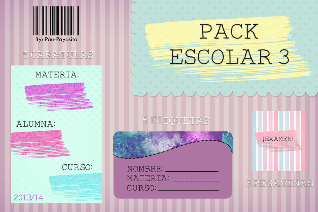 Pack Escolar 3 by Pau-Payasita