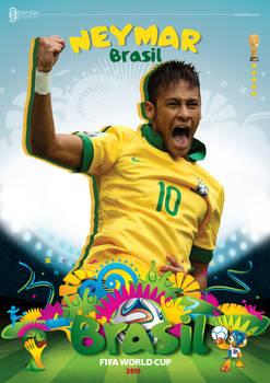 NEYMAR WORLD CUP 2014 POSTER