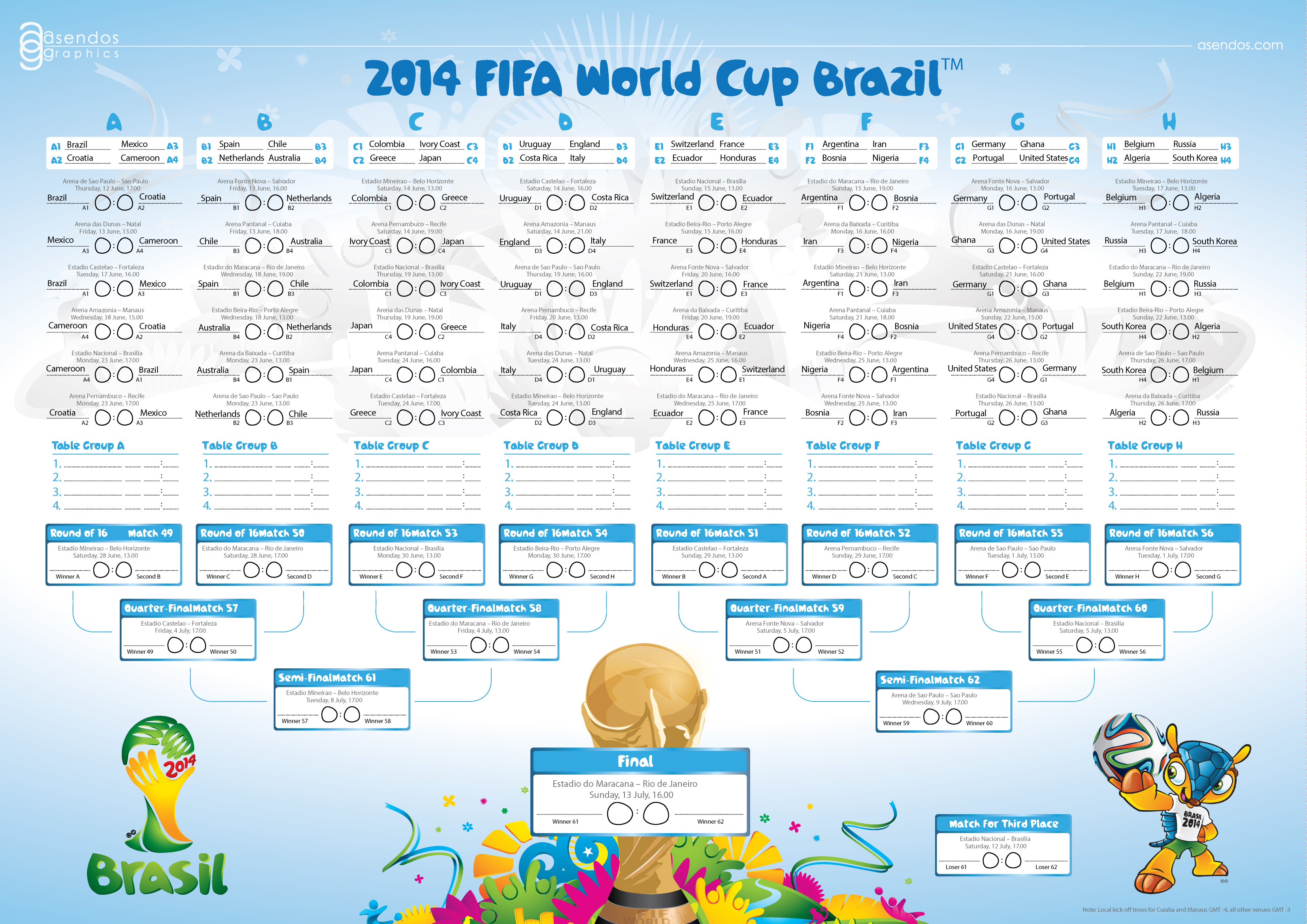 2014 Fifa World Cup Brazil Fixtures by asendos on DeviantArt