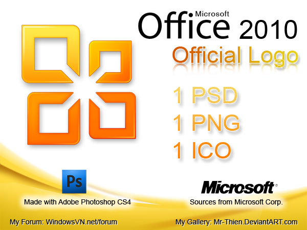 Ms Office 2010 Official Logo By Mr Thien On Deviantart