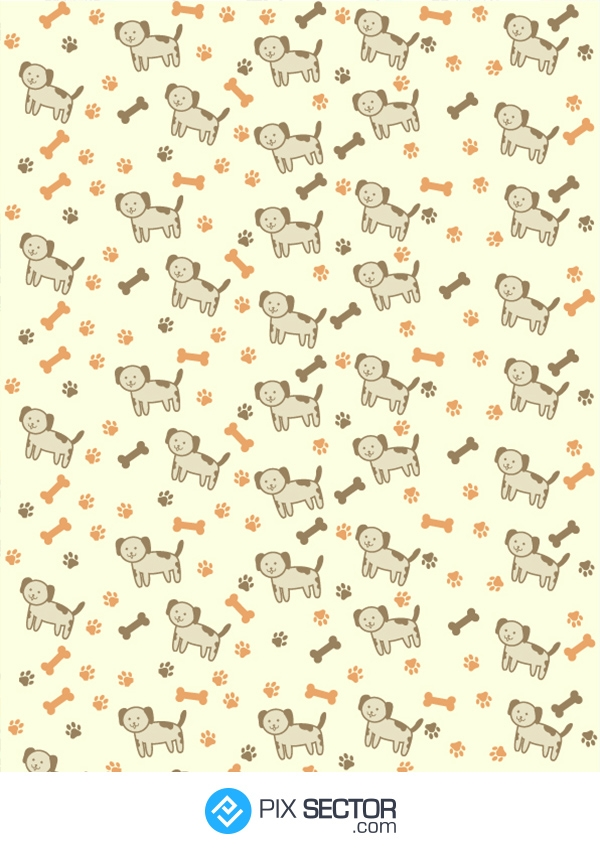 Free dog vector pattern by pixsector