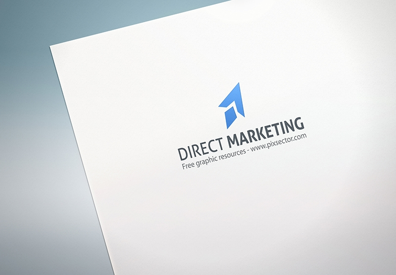 Free paper logo mockup by pixsector