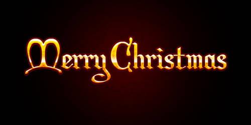 Merry Christmas Text PSD