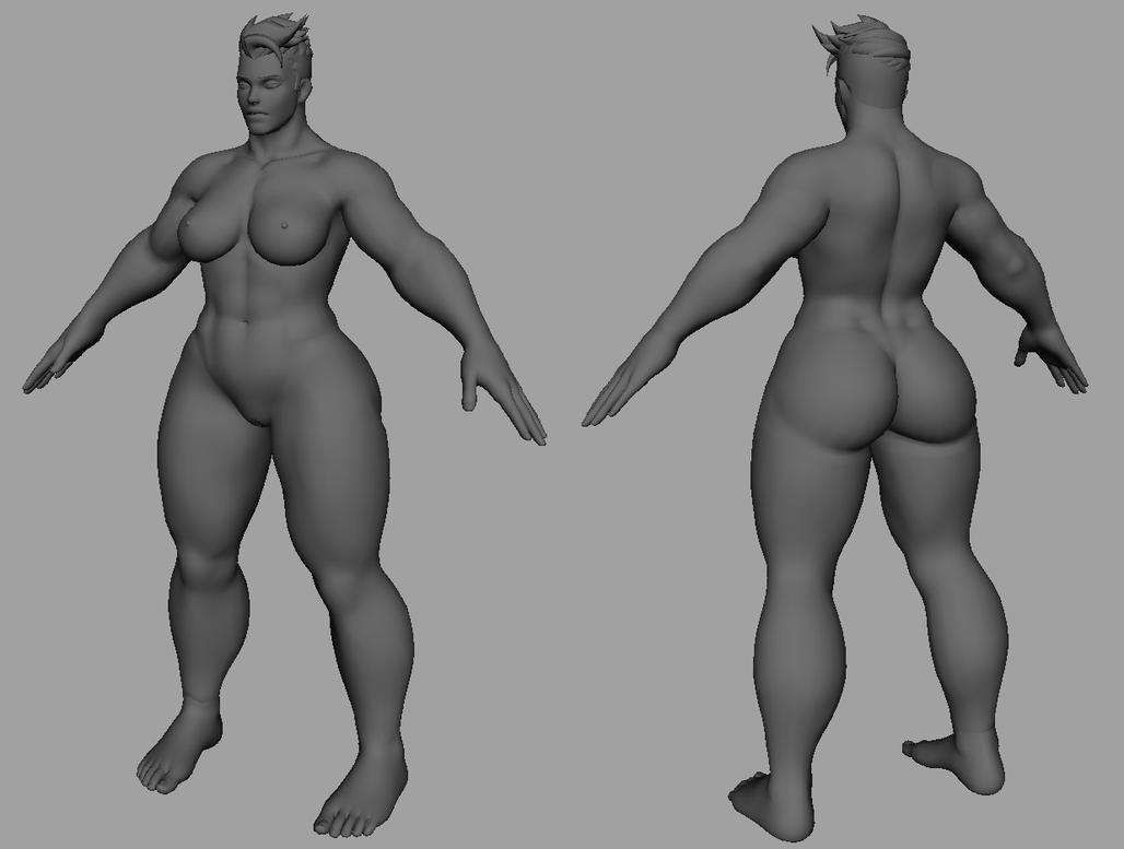 Zarya nude model by JKLind