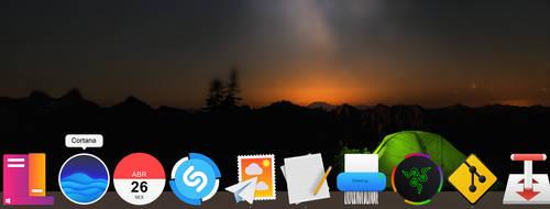 Cortana Icon Dock by CleytonPr