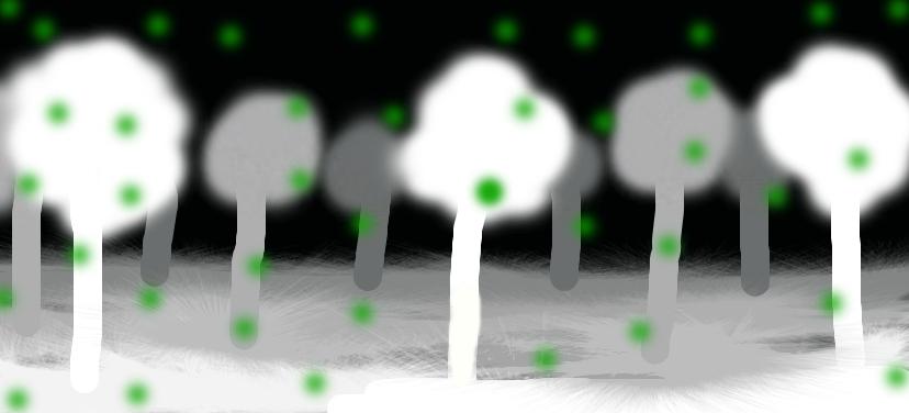 Moon light forest by potato-chip-artist4