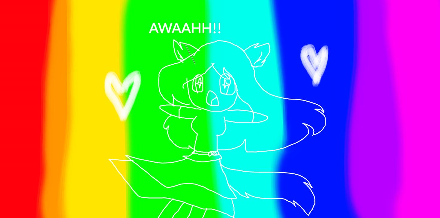 Kawaiitober day 7 - Rainbow wonderland! by KawaiiUrsaChan