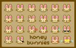 Honey Bunnies Emoticons