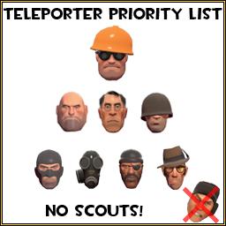 TF2 Spray Teleporter Priority