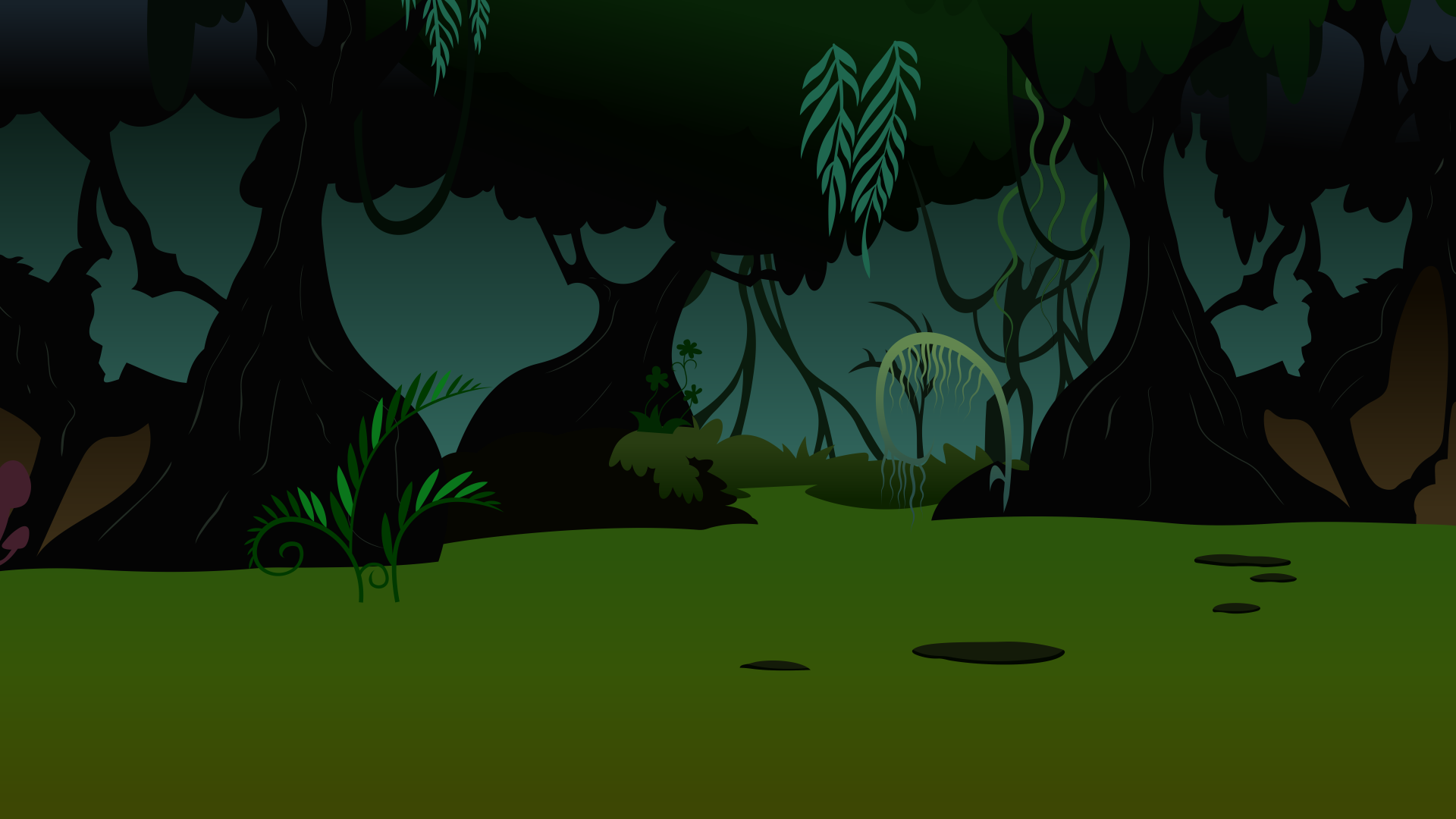 Background: Everfree Forest Clearing by 90Sigma on DeviantArt