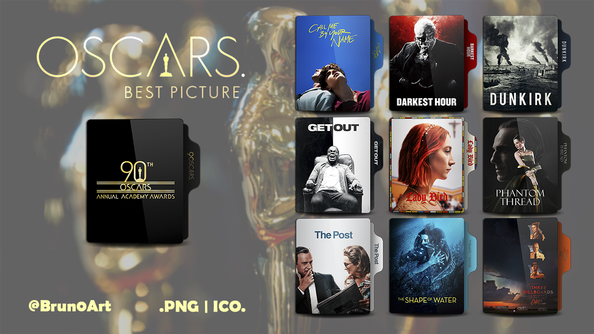 Oscar 2018 Best Picture Folder Icon Pack by Brun0Art on