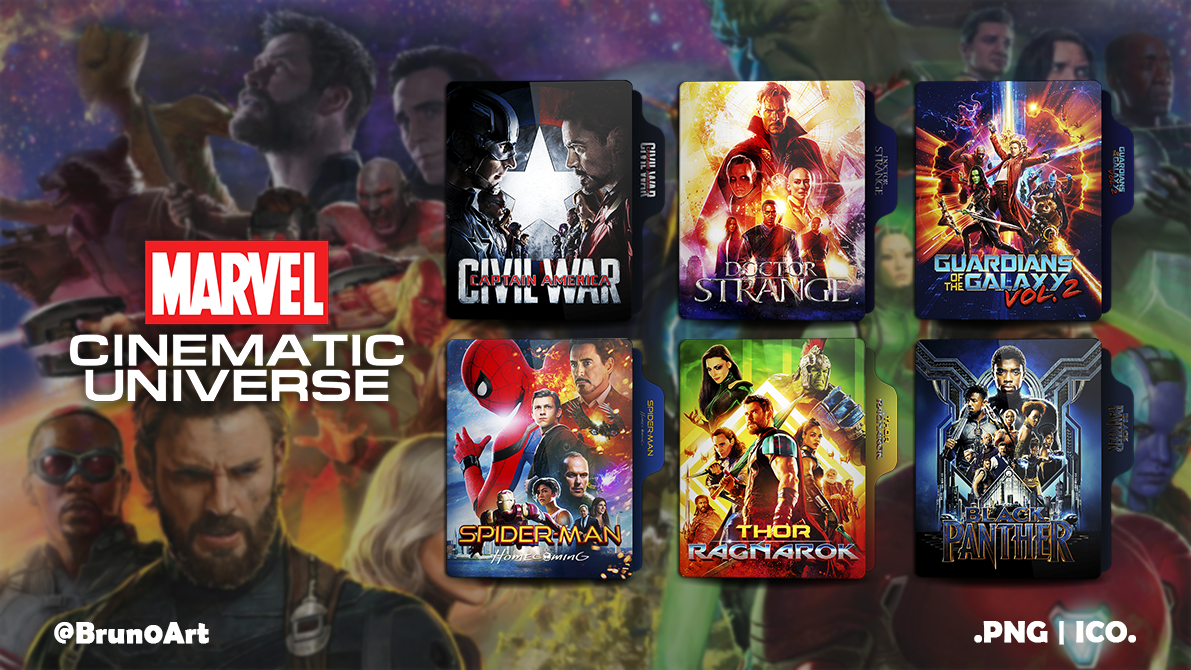 Marvel Cinematic Universe Phase 3 Folder Icon Pack by