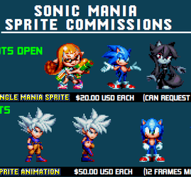 Sonic Mania Sprite Commissions