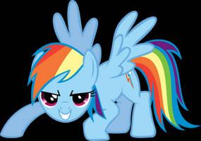 Rainbow Dash Pouncing by Triox404