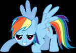 Rainbow Dash Pouncing