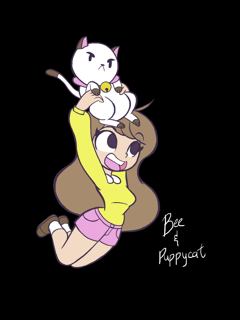 Bee and puppycat wallpaper variant 2 by Khuzang