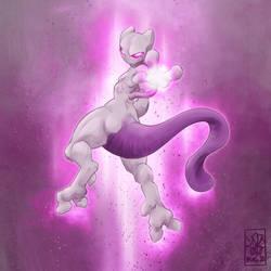 #150 Mewtwo (ANIMATED GIF) by DandyAngelicaVannini