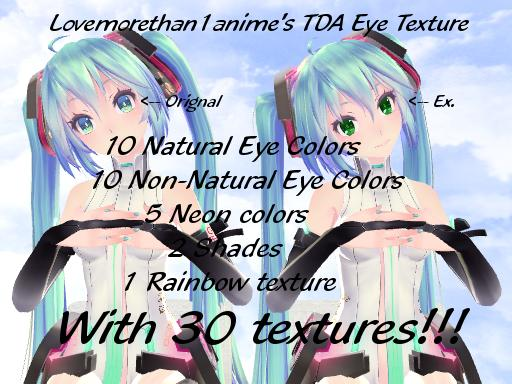 TDA Eye Texture Pack 1 by Lovesmorethan1anime
