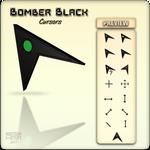 Bomber Black Cursors