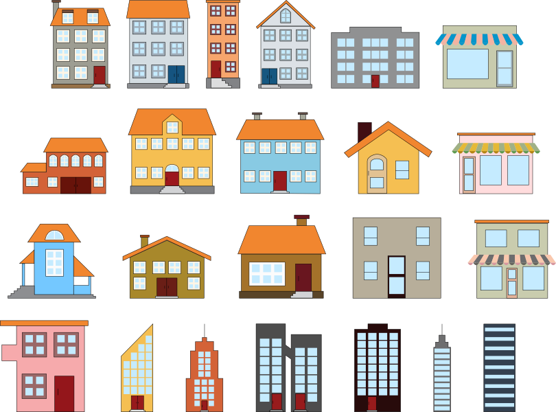 22 buildings icons pack by NePosas