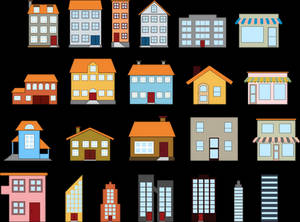 22 buildings icons pack