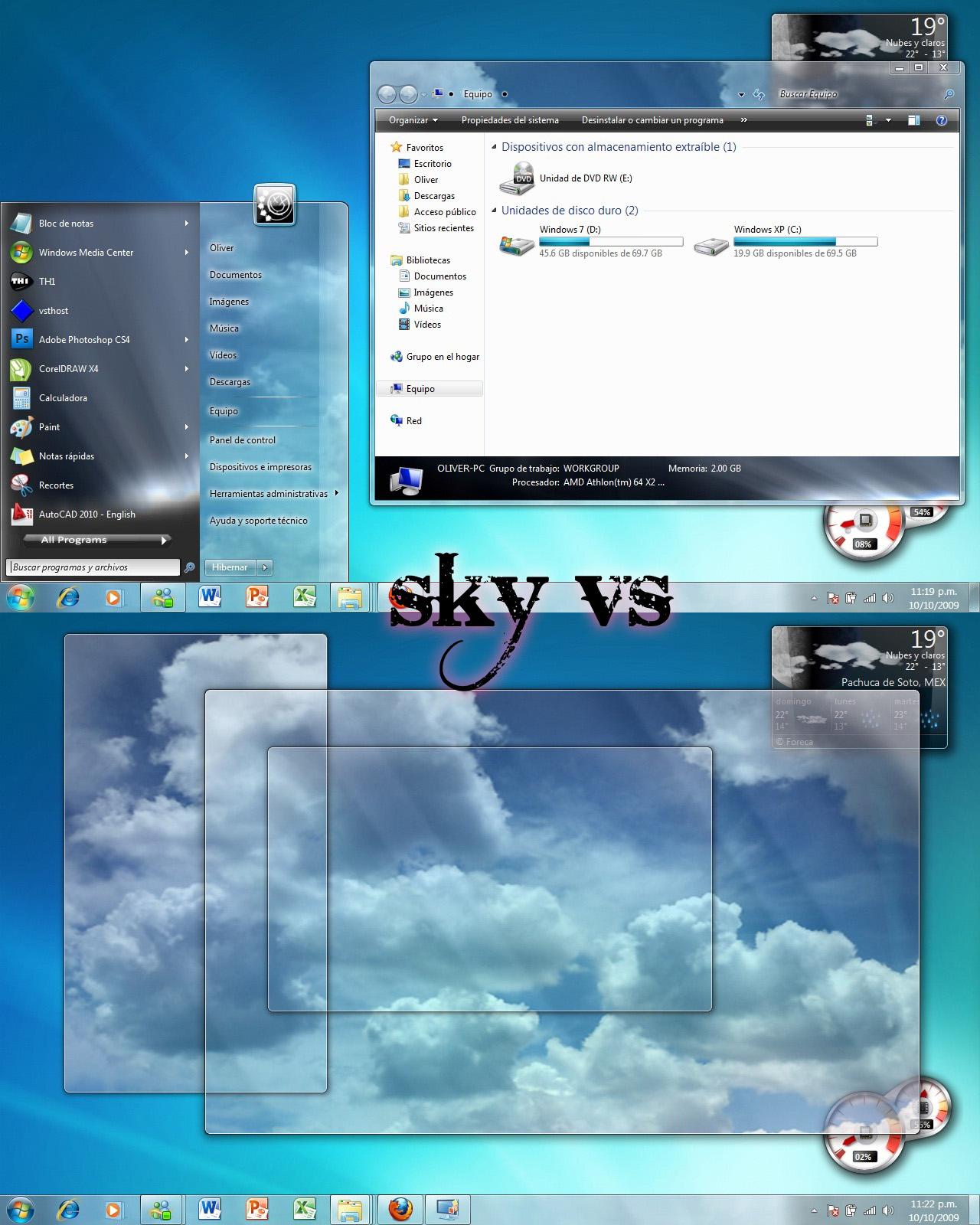 Sky vs for Windows 7