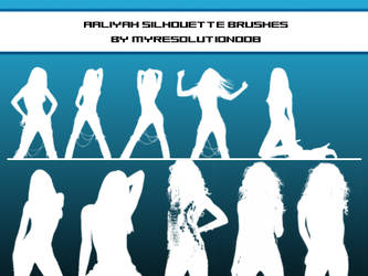 Aaliyah Silhouette Brush Set by myresolution008