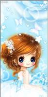 gif blue little girl