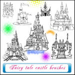 Fairy tale castle brushes by kuzjka