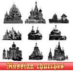 Russian churches brushes by kuzjka
