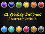 12 Glossy Buttons