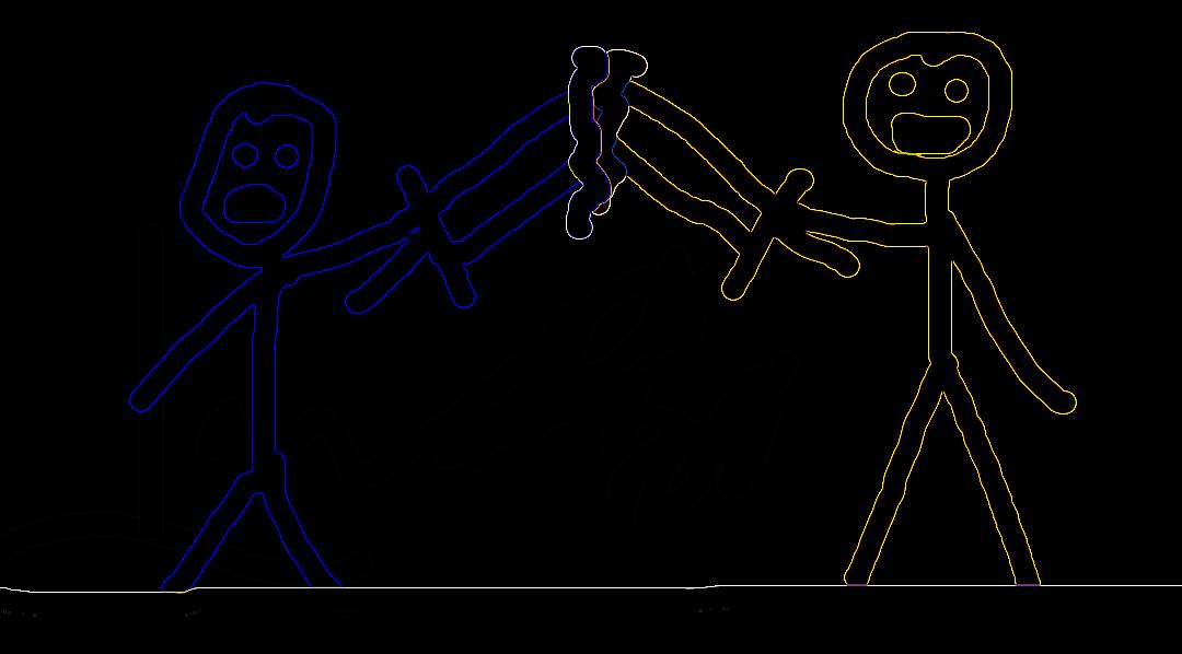 Stickman Tron Sword Fight By Karboy2314pl On Deviantart
