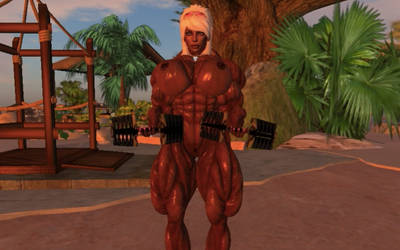 Second life muscle girl workout 6 by unit7777777777