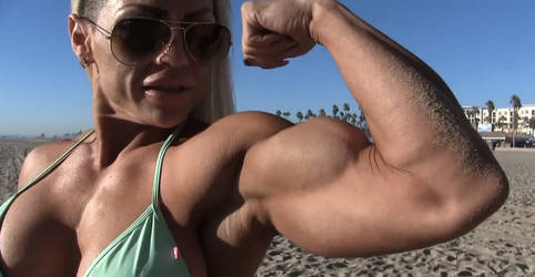 Victoria amazing biceps beach posing by unit7777777777