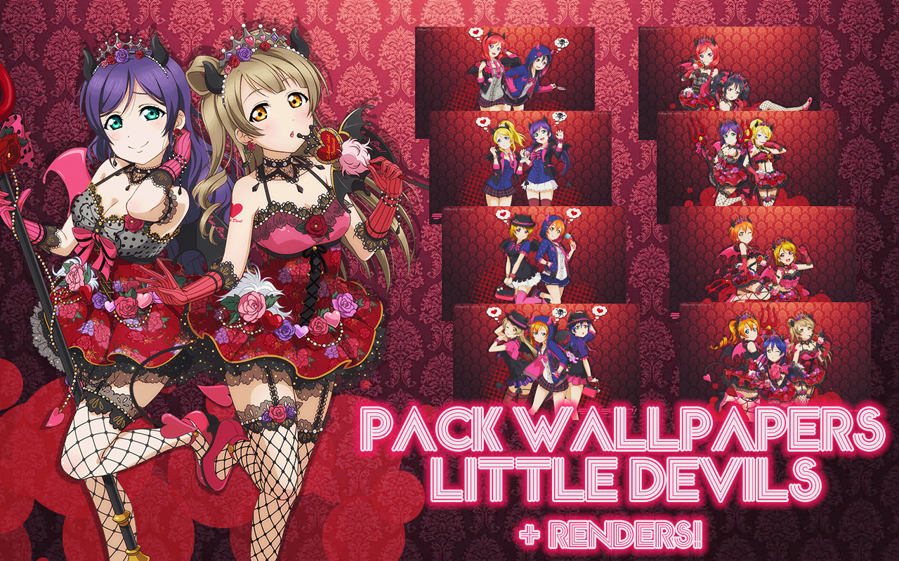 Pack Love Live Wallpapers Little Devils by MayMugiLee on DeviantArt