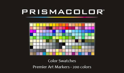 Prismacolor Art Markers Swatches