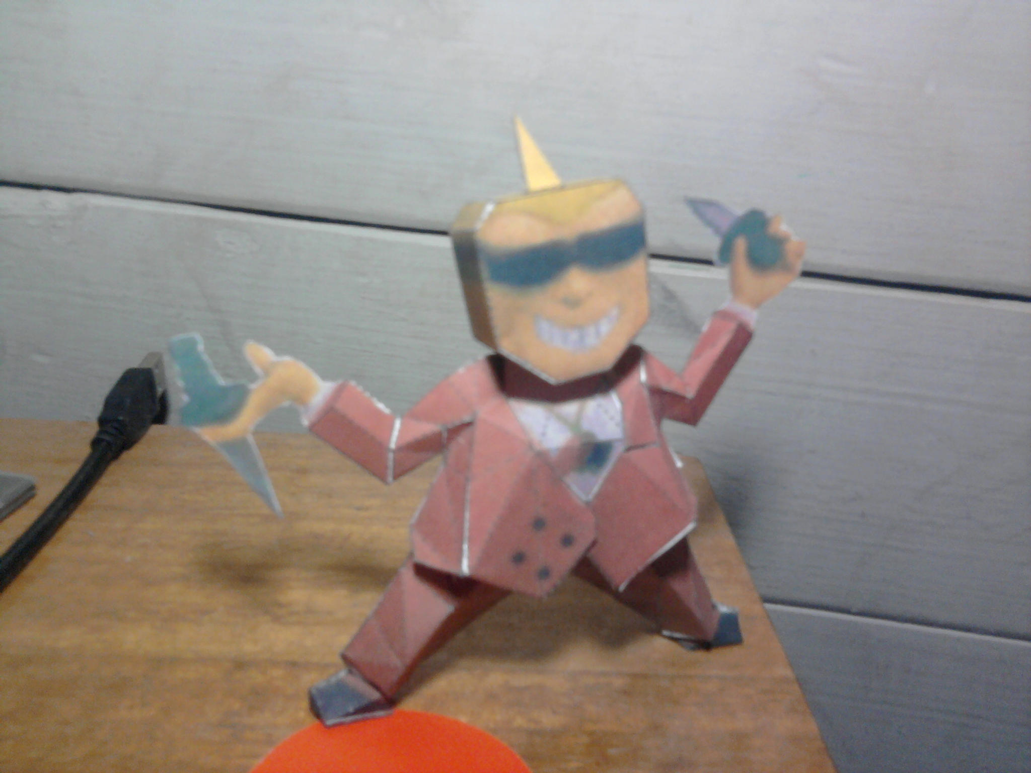 Frank Fly papercraft - earthbound/mother2 by el-morenazo