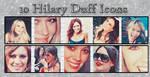 10 Hilary Duff Icons by NewspaperGeek