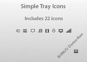 Simple Tray Icon Pack by Etokura