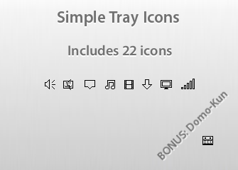 Simple Tray Icon Pack by Etokura