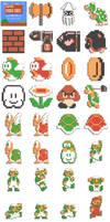 Plasticons - Mario Bros by garbanzox