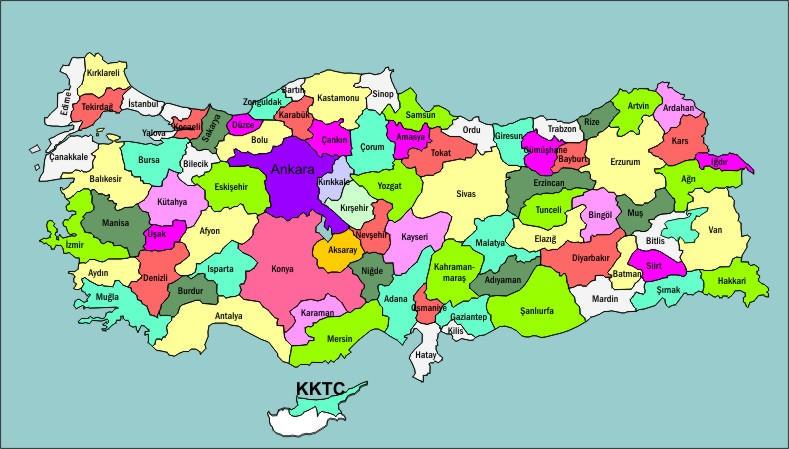Turkiye Haritasi Vectorel by ediiip