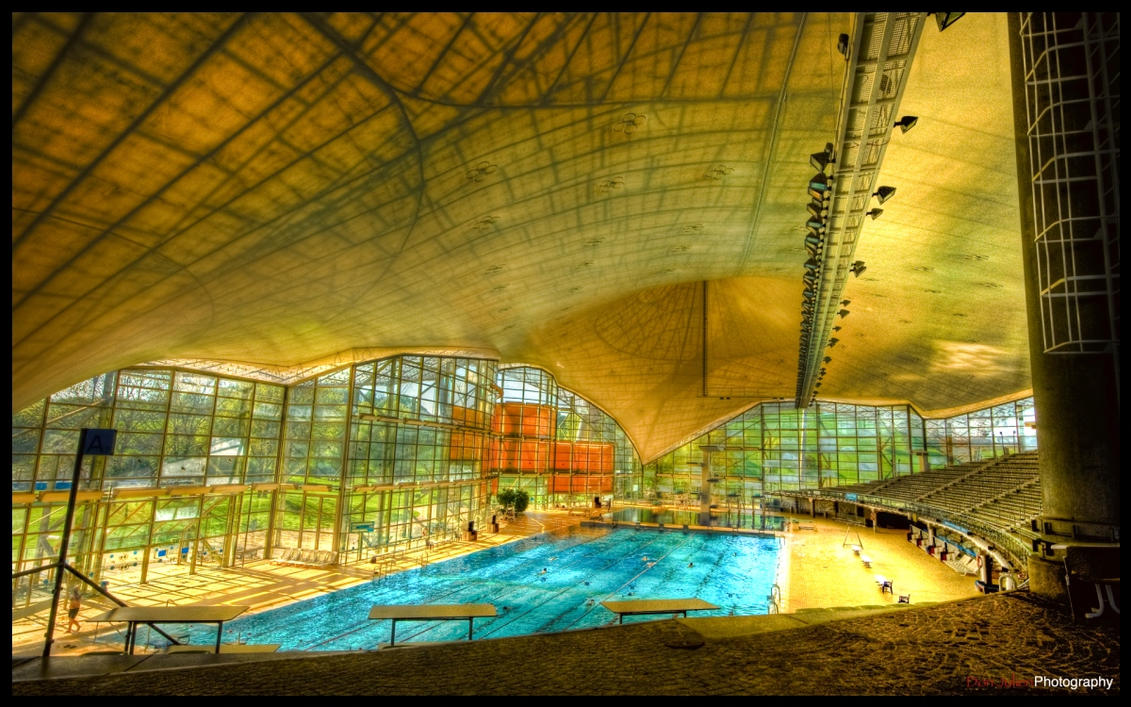 Munich olympic pool ii wp by superjuju29 on deviantart for Olympic park swimming pool membership