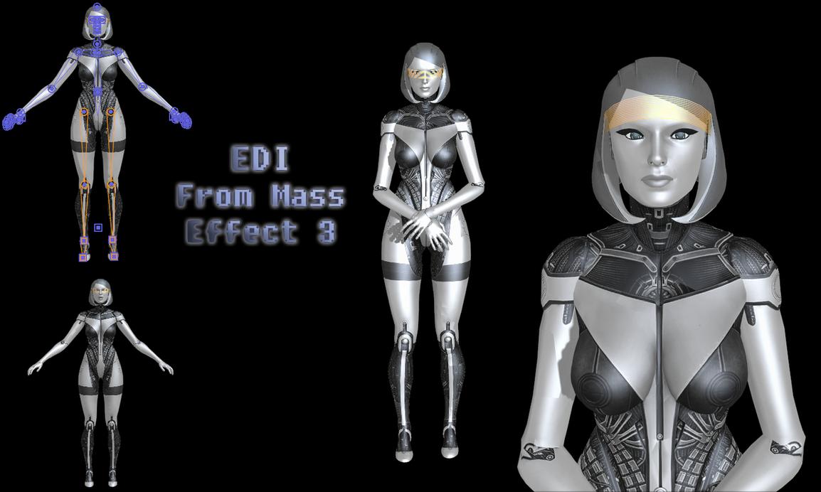 Edi Mass Effect mmd mass effect: edi the aitokami-fuko on deviantart