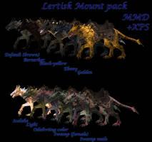 XPS MMD  Lertisk mounts pack by Tokami-Fuko
